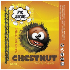 Pik Juices Chestnut Label