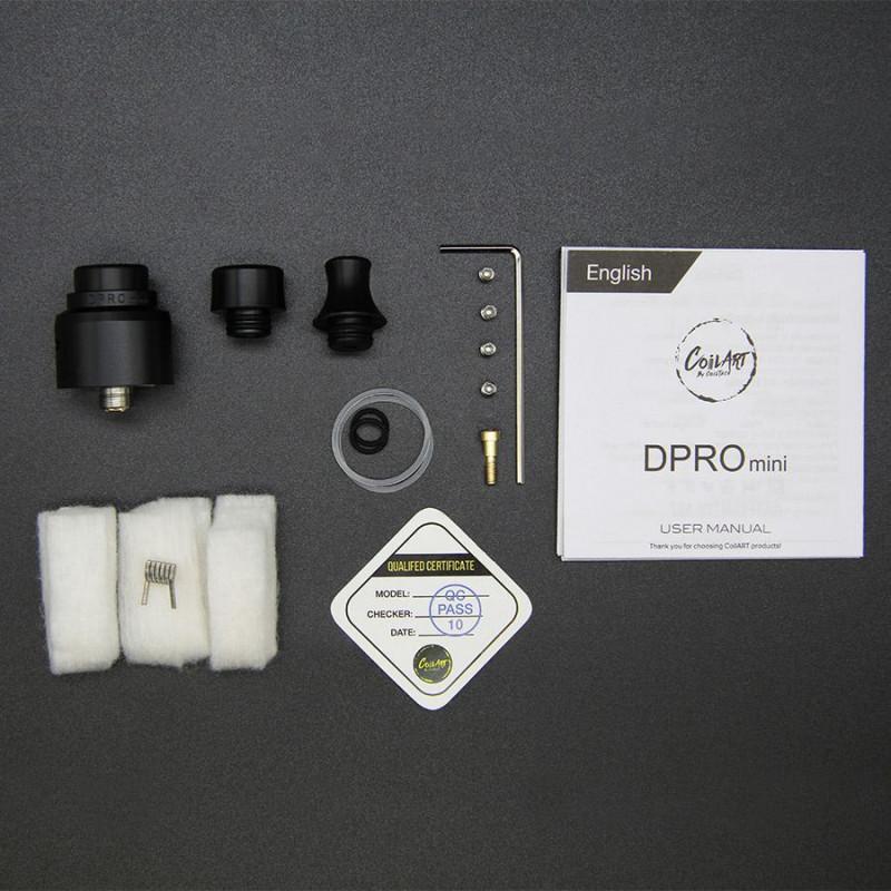 CoilArt DPRO Mini RDA Packungsinhalt