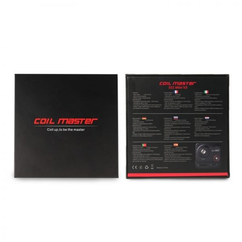 Coil Master 521 mini V2 Blick auf Verpackung