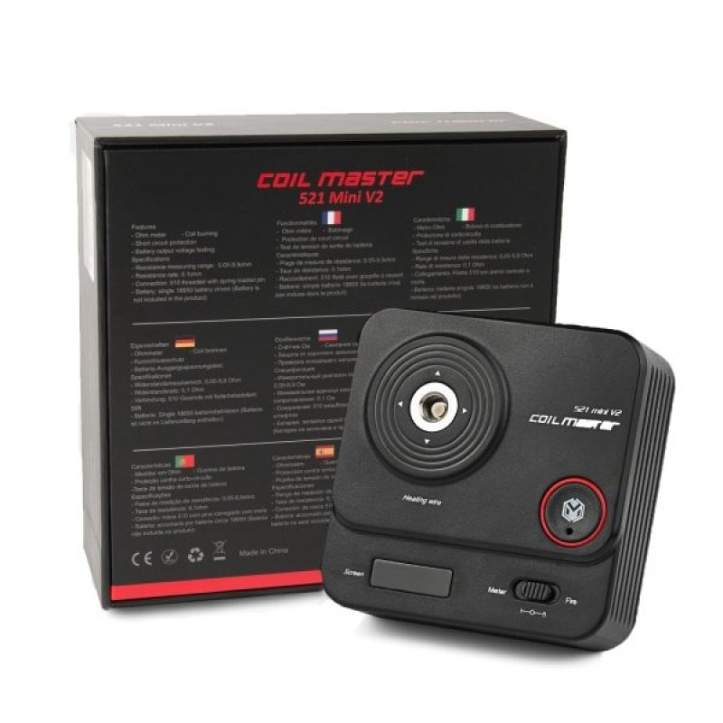 Coil Master 521 mini V2 mit Verpackung