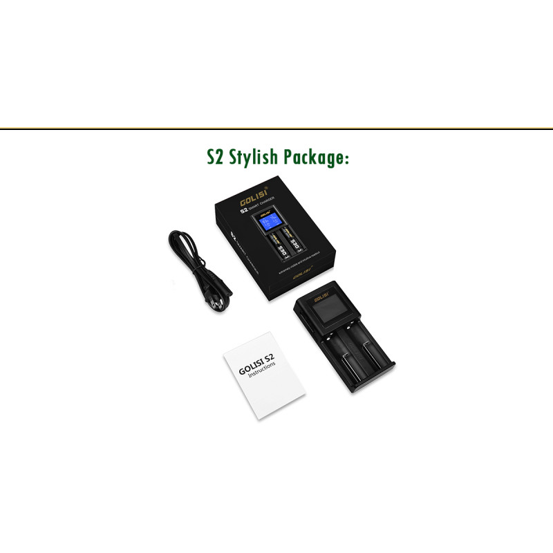 Golisi S2 Smart Charger Lieferumfang