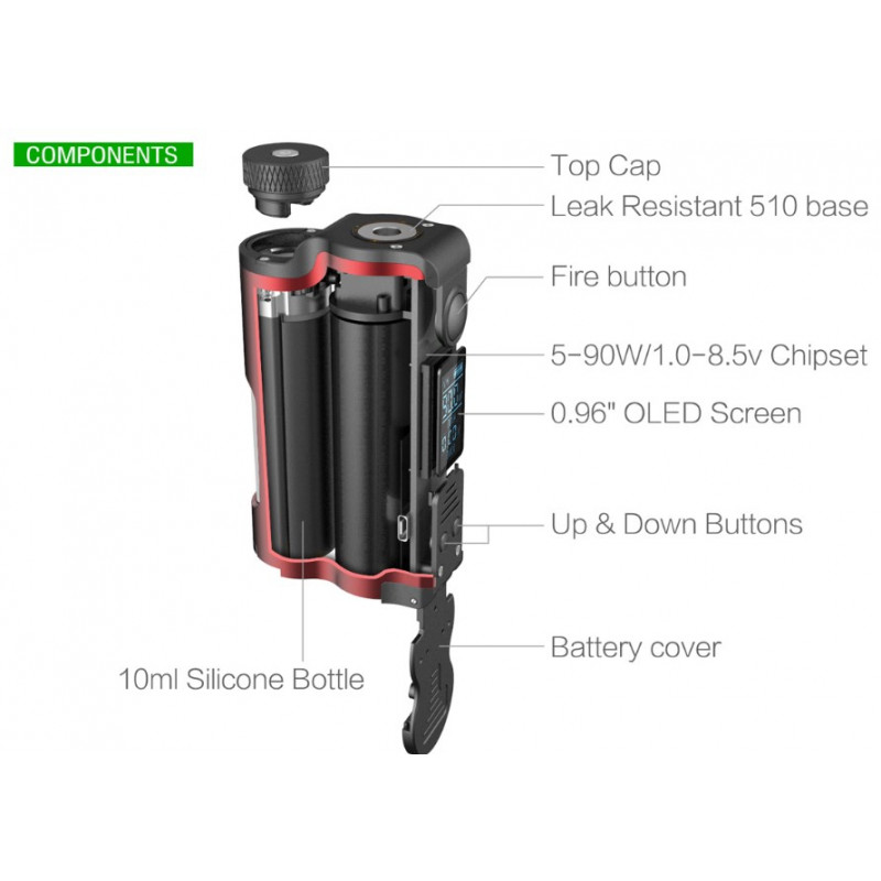 Dovpo Topside Single 21700 Squonker Features