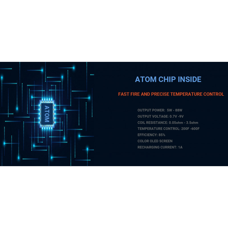 Cthulhu Mods Hastur Mod 88W TC Eigenschaften Chip