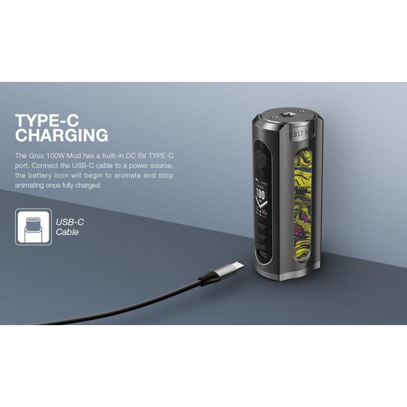 Lost Vape Grus 100W laden mit USB Type-C