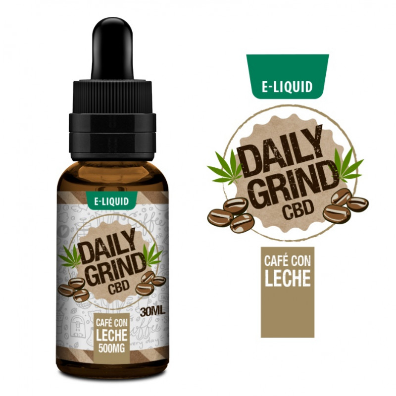 Daily Grind Cafe Con Leche Ansicht Flasche
