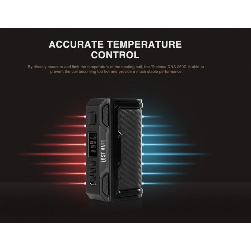 Lost Vape Thelema DNA250C Mod Temperaturkontrolle
