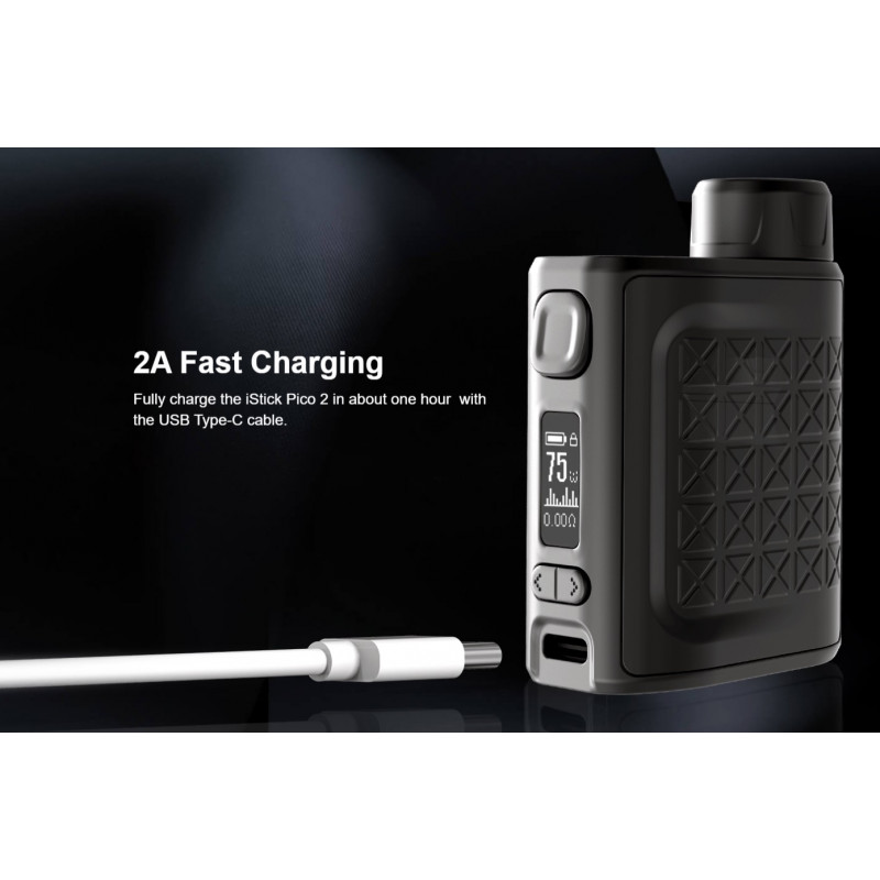 Eleaf iStick Pico 2 75W Mod Frontansicht mit USB Type-C
