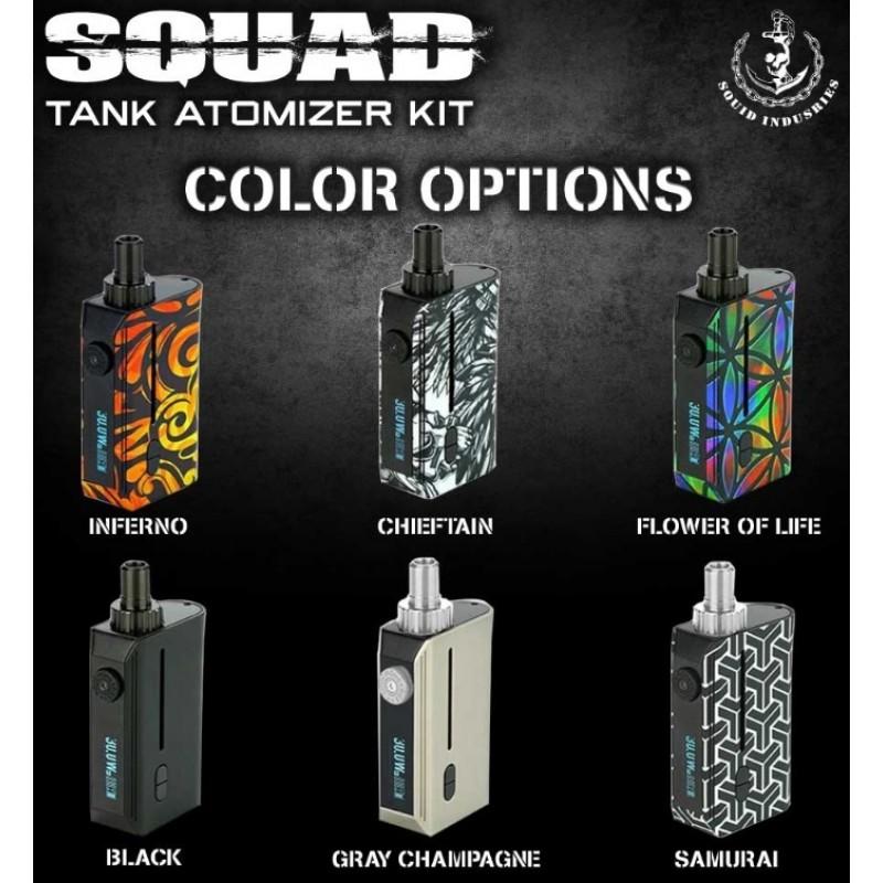 Squid Industries Squad Tank Atomizer Kit Ansicht Farben