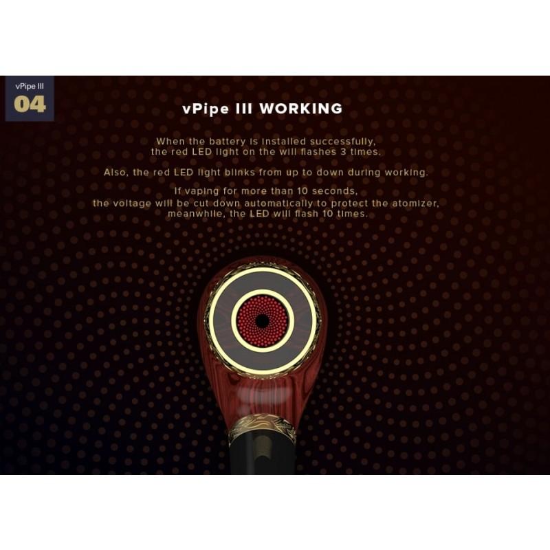 Vapeonly vPipe 3 Rosewood Glimm-Funktion Pfeifenkopf