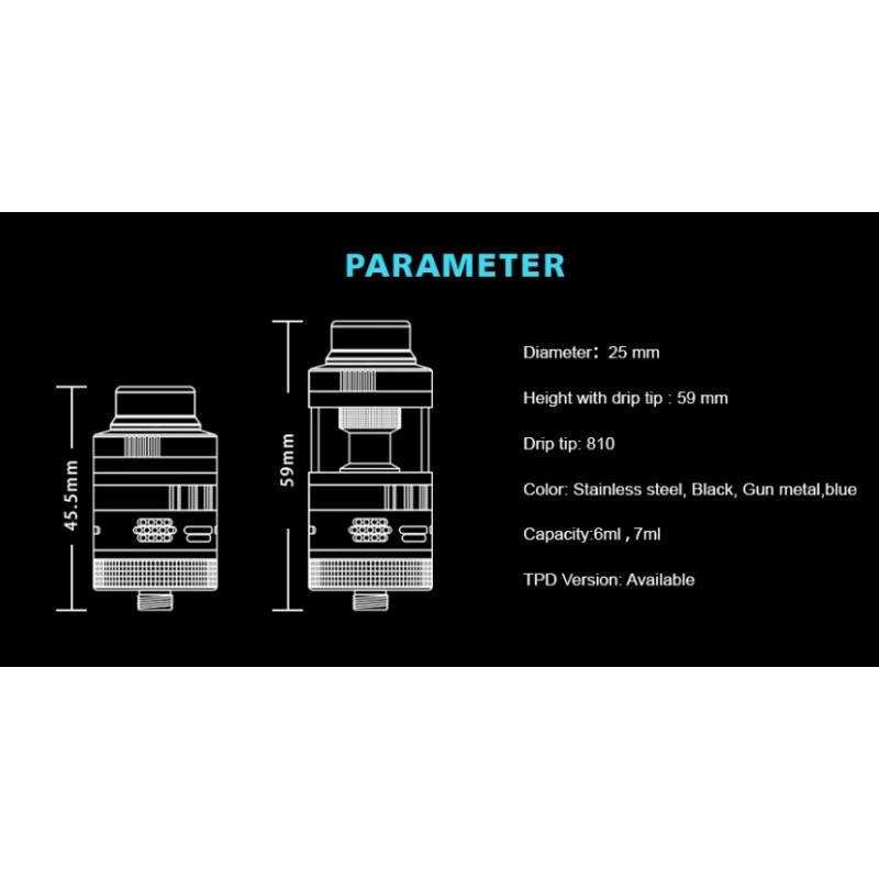 Steam Crave Aromamizer V3 RDTA Advanced Kit Spezifikationen