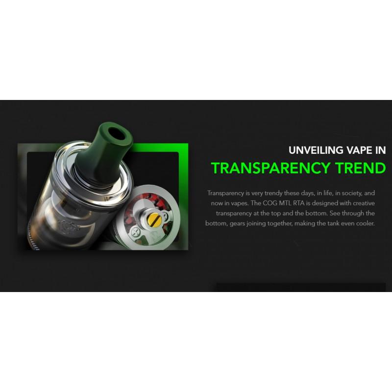 Wotofo COG MTL RTA Transparenz bei Tank und Boden