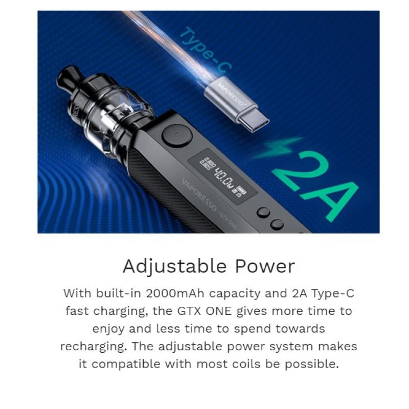 Vaporesso GTX One Kit USB-C Ladeanschluss