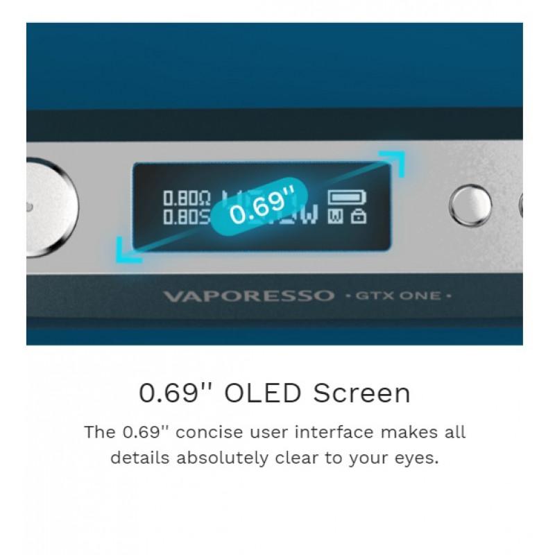 Vaporesso GTX One Kit Ansicht Display