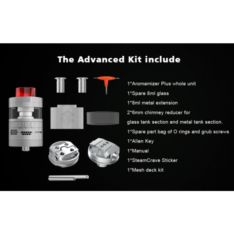Steam Crave Aromamizer Plus V2 RDTA Advanced Kit Lieferumfang
