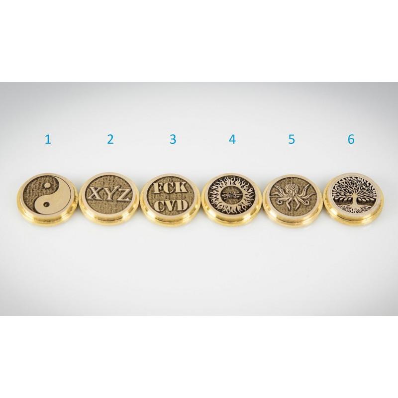 Koncio Mods Billet Box Brass 3D Button Ansicht aller Buttons
