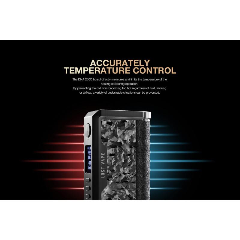 Lost Vape Centaurus DNA250C Temperaturkontrolle
