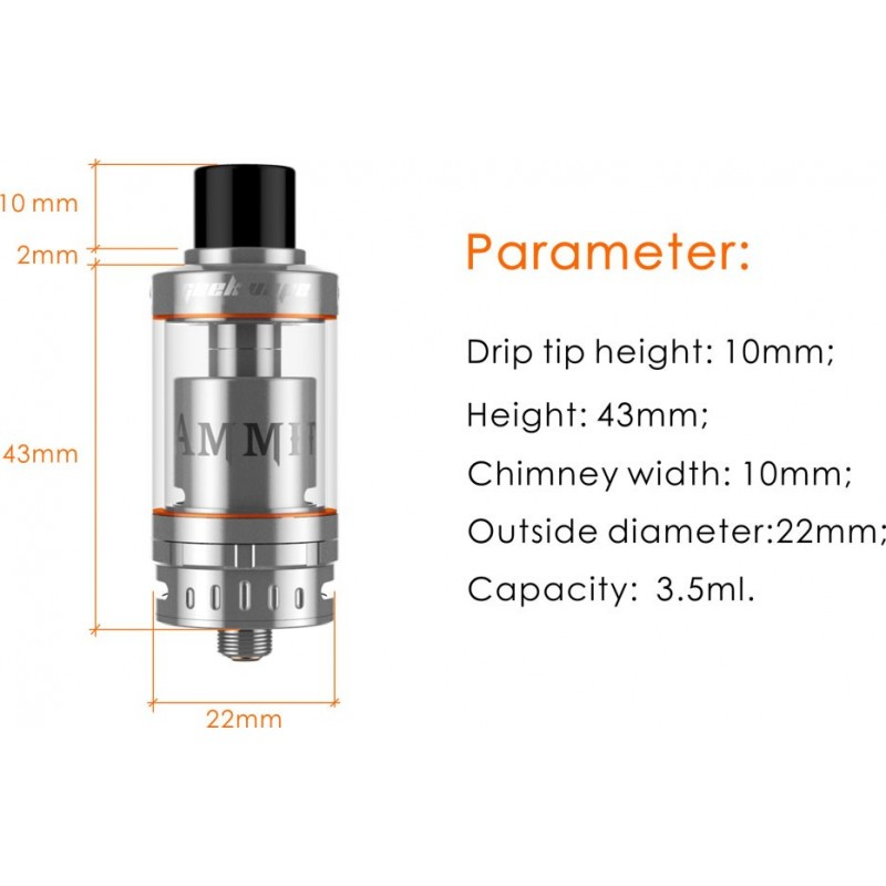 Geekvape Ammit Single Coil Version parameter