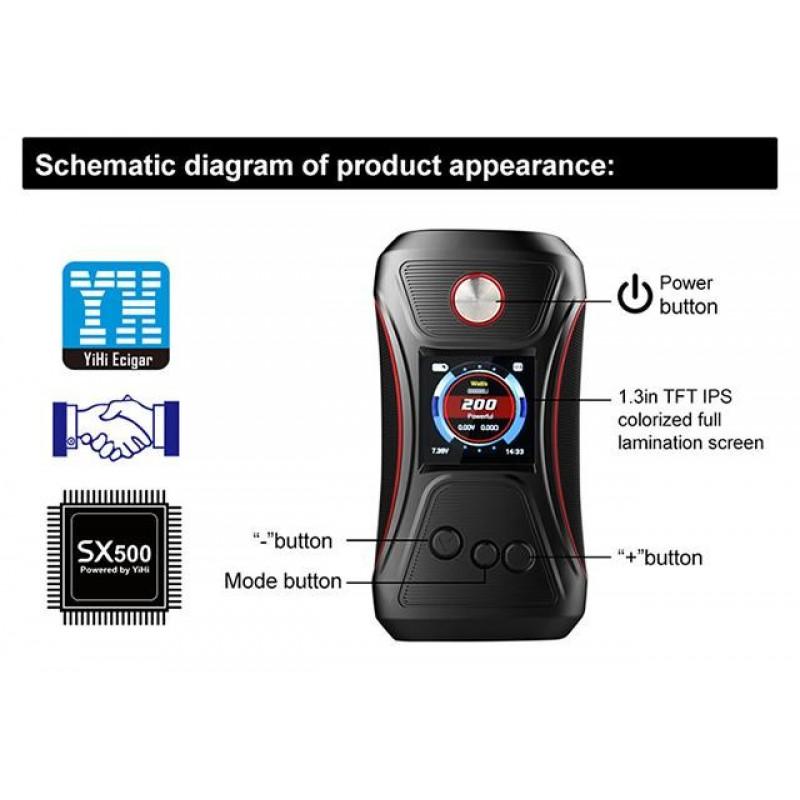 GTRS Tech VBoy 200W YiHi SX500 Mod funktionen