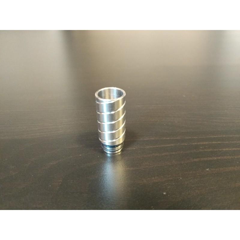 VapeOnly 510 Drip Tip Metall Silber Spirale