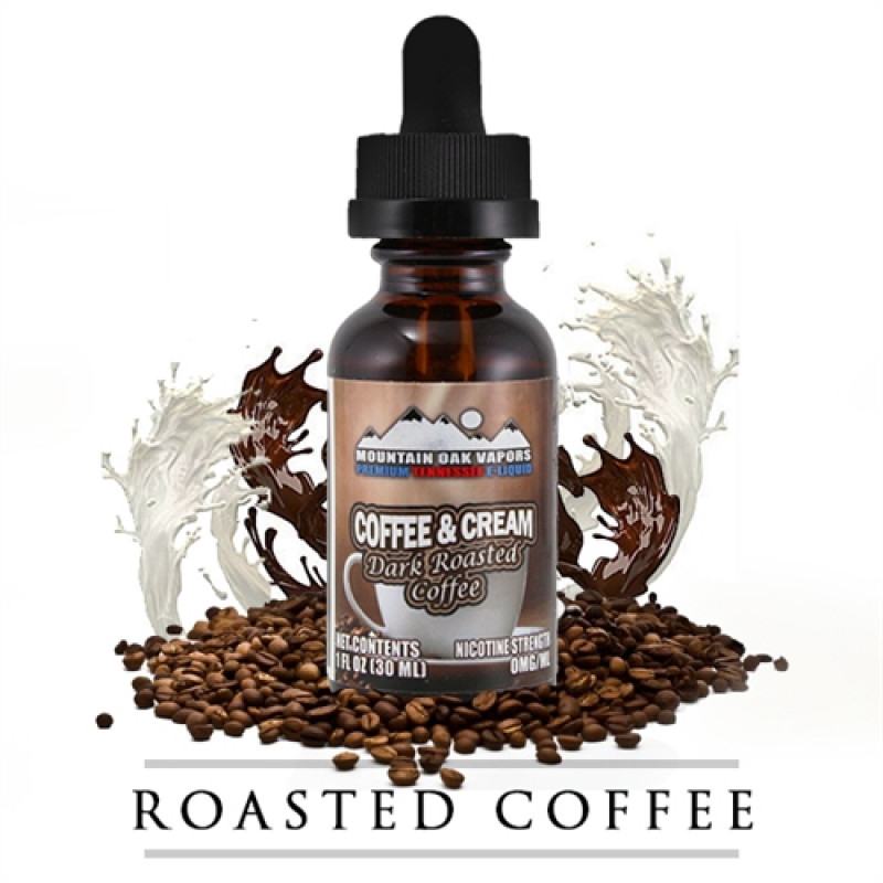 Mountain Oak Vapors Coffee & Cream Flasche