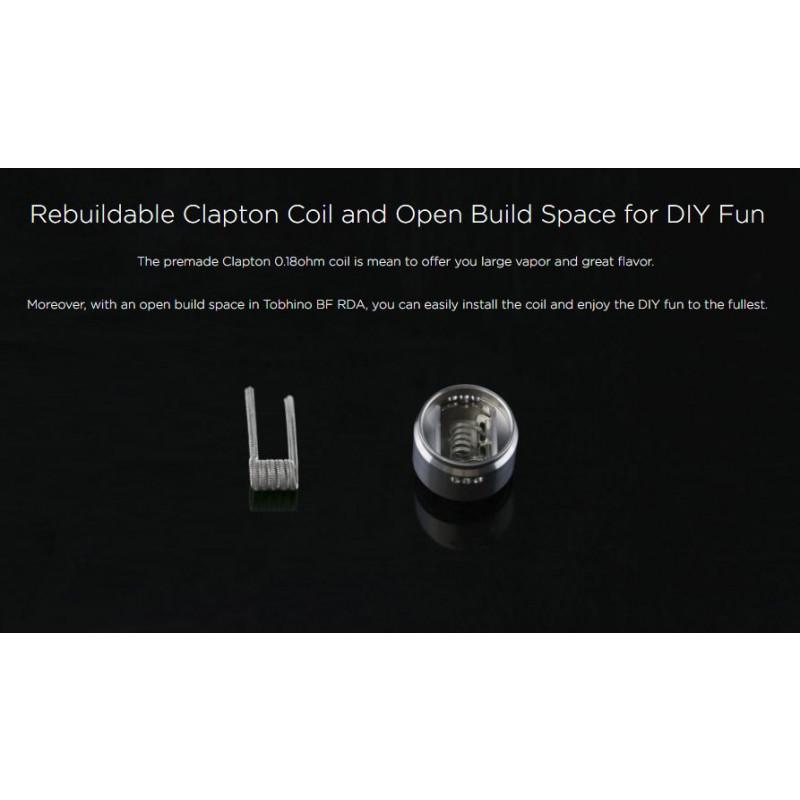 Wismec Tobinho RDA verwendbare Coils