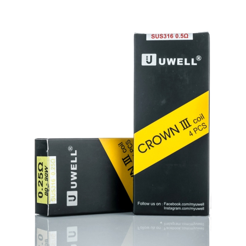 Uwell Crown 3 Coils 0.25ohm and 0.5ohm
