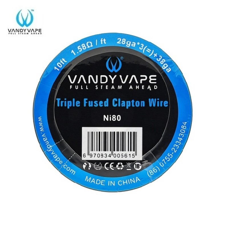 Vandy Vape Triple Fused Clapton NI80 Draht