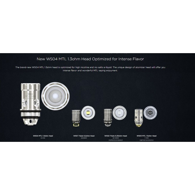 Wismec Active - Amor NS Plus Kit (mit Bluetooth Boxen) coils