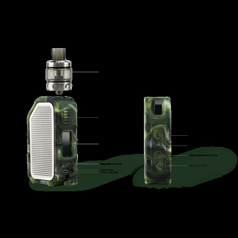Wismec Active - Amor NS Plus Kit (mit Bluetooth Boxen) details