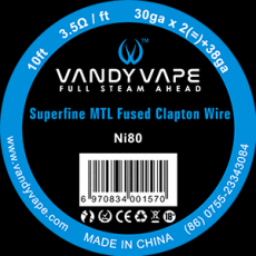 Vandy Vape Ni80 Superfine MTL Fused Clapton Wire 2