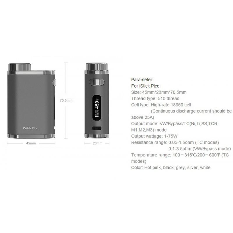 Eleaf iStick Pico Akkuträger / Mod Leistung