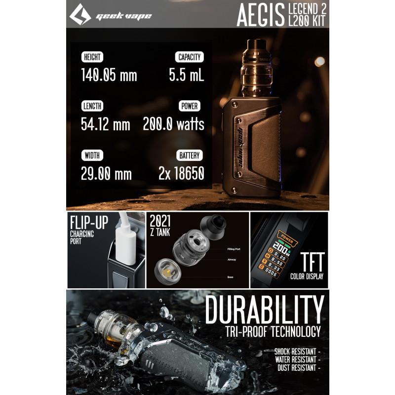 Geekvape Aegis Legend 2 Kit Details