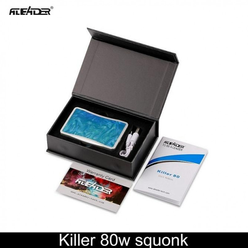 Aleader Killer 80W Squonker Box in the box