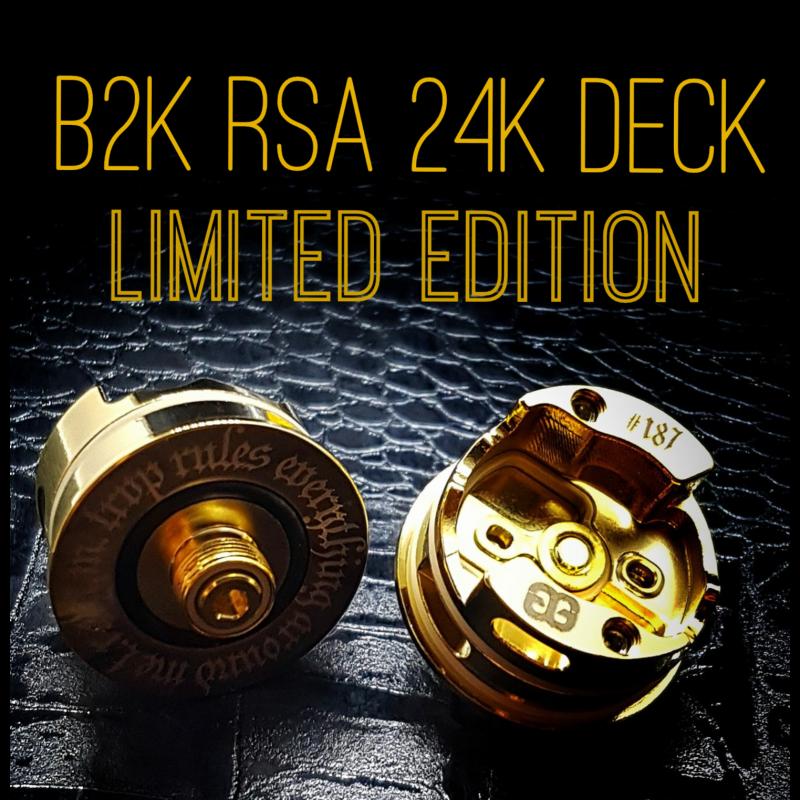 BB Vapes B2K RSA Limited Edition 24K Gold Deck