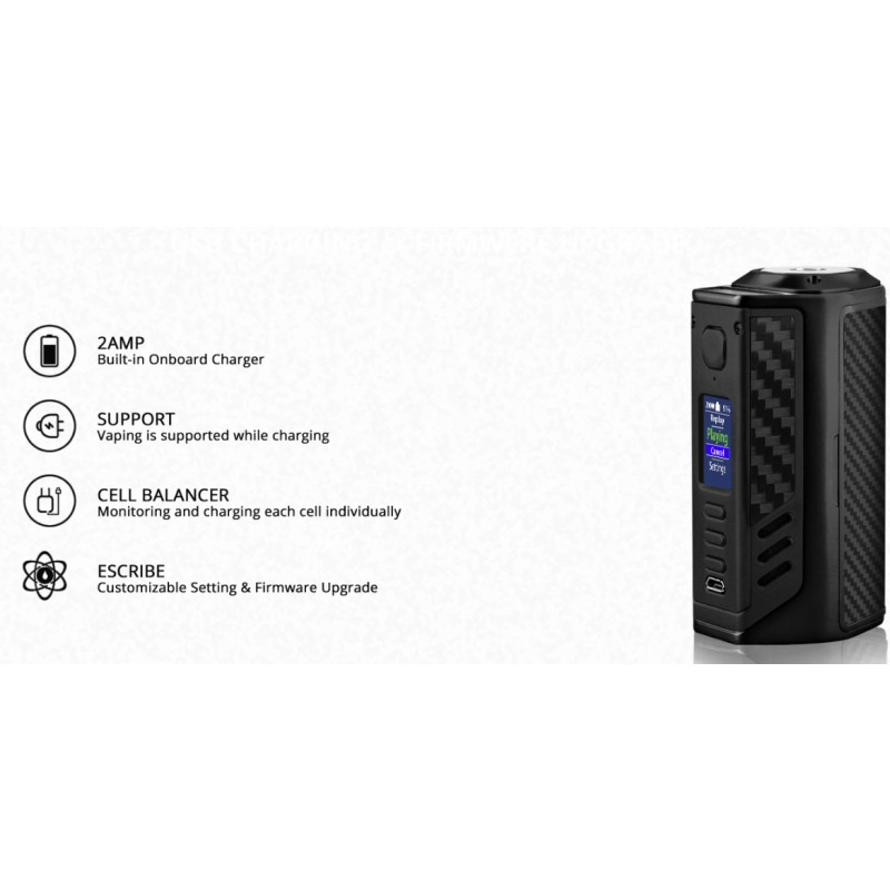 Lost Vape Triade DNA250C Ladefeatures