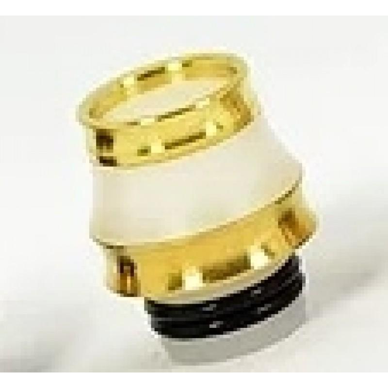 Koncio Mods Drip Tip Hybrid 24k Gold Ansicht Weiss