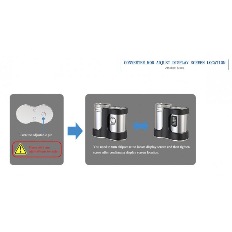Ambition Mods Converter Mod drehen des Displays und verstellbarer 510