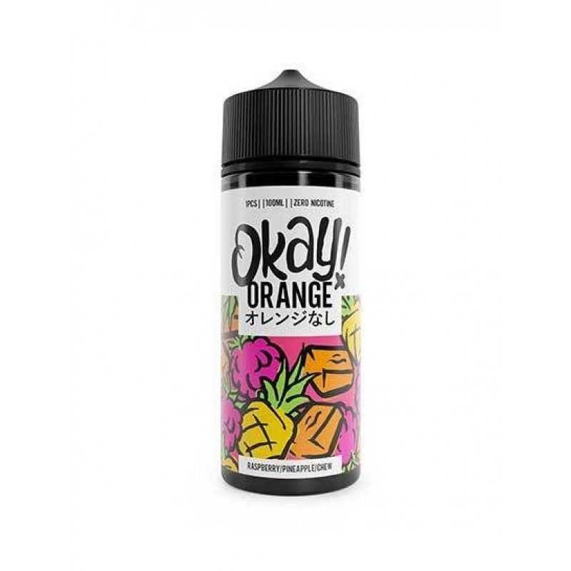 Okay! Orange Raspberry/Pineapple/Chew Ansicht Flasche