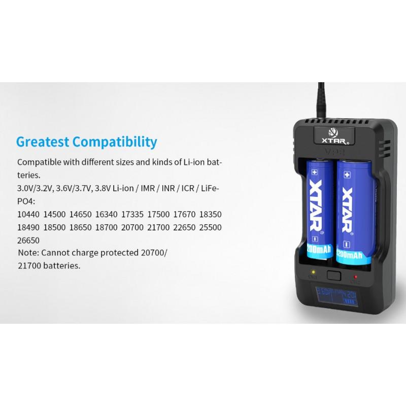 Xtar VP2 Kompatibilität
