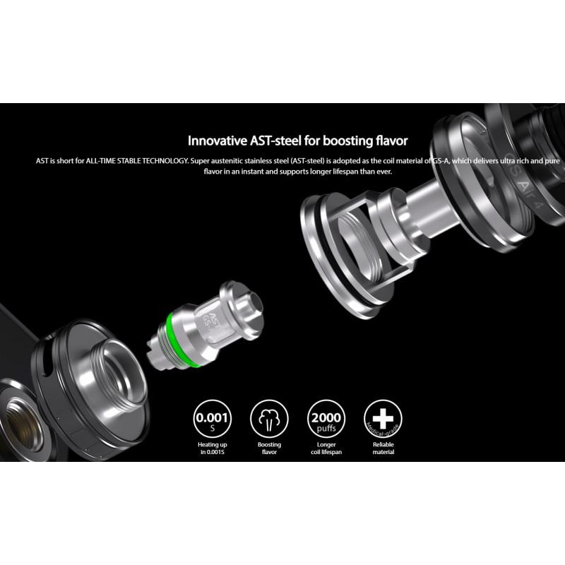 Eleaf Mini iStick 2 Kit Erklärung AST-Stahl im GS-A Coil