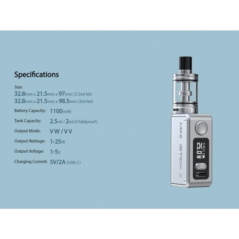 Eleaf Mini iStick 2 Kit Spezifikationen