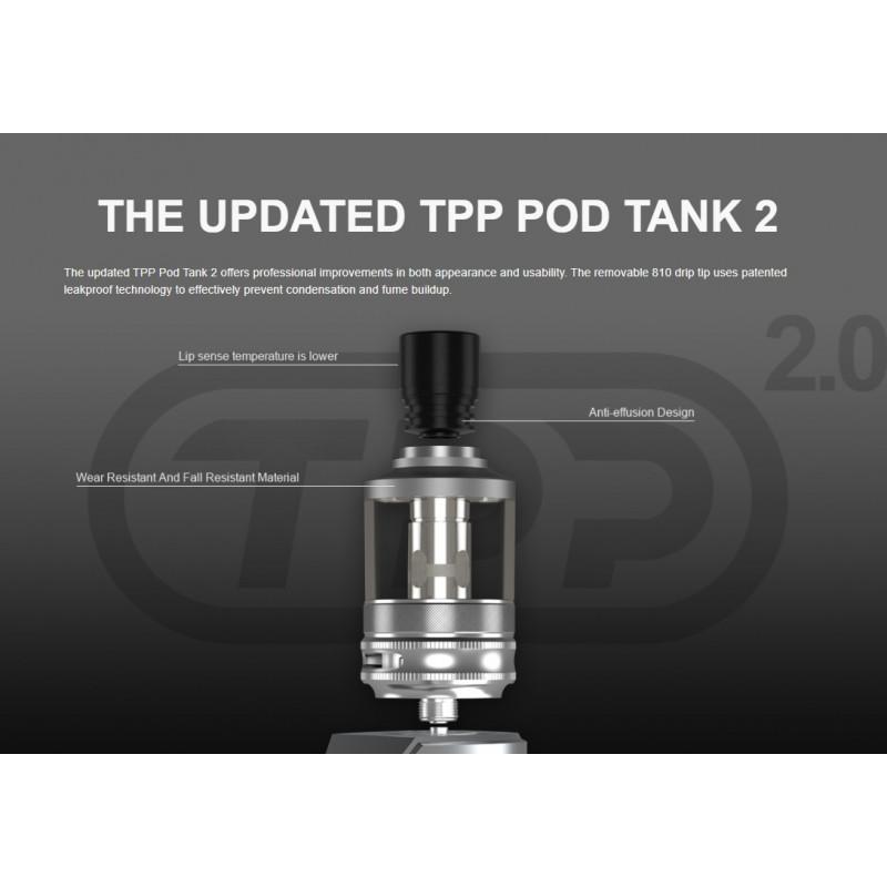 Voopoo Drag X Plus Professional Edition Kit Verbesserungen TPP 2.0 Pod Tank