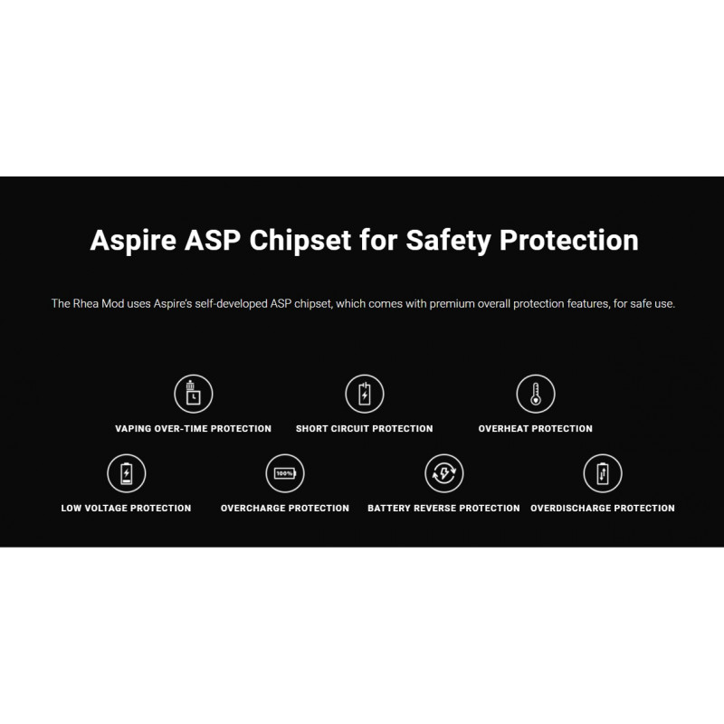 Aspire Rhea 200W Mod Schutzfunktionen Chip