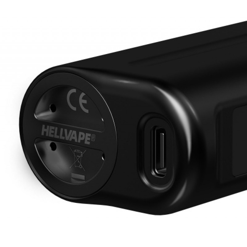 Hellvape Aera 120W Mod USB Type-C Anschluss und Akkudeckel