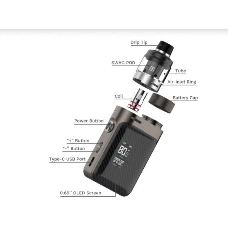 Vaporesso Swag PX80 Kit Einzelteile