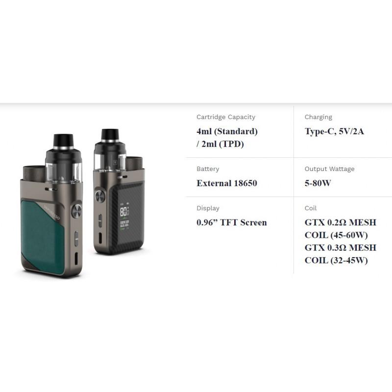 Vaporesso Swag PX80 Kit Spezifikationen