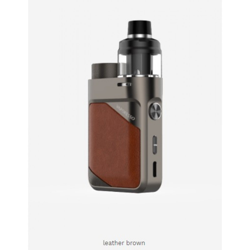 Vaporesso Swag PX80 Kit Ansicht Leather Brown