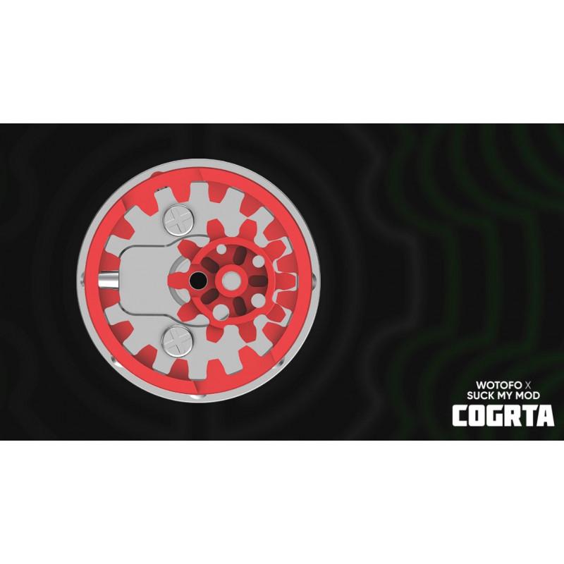 Wotofo COG MTL RTA Ansicht Airflow Zahnräder