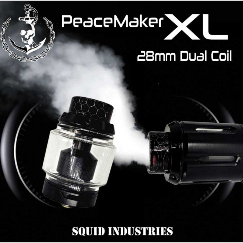 Squid Industries Peacemaker RTA 28mm Dual Coil Intro