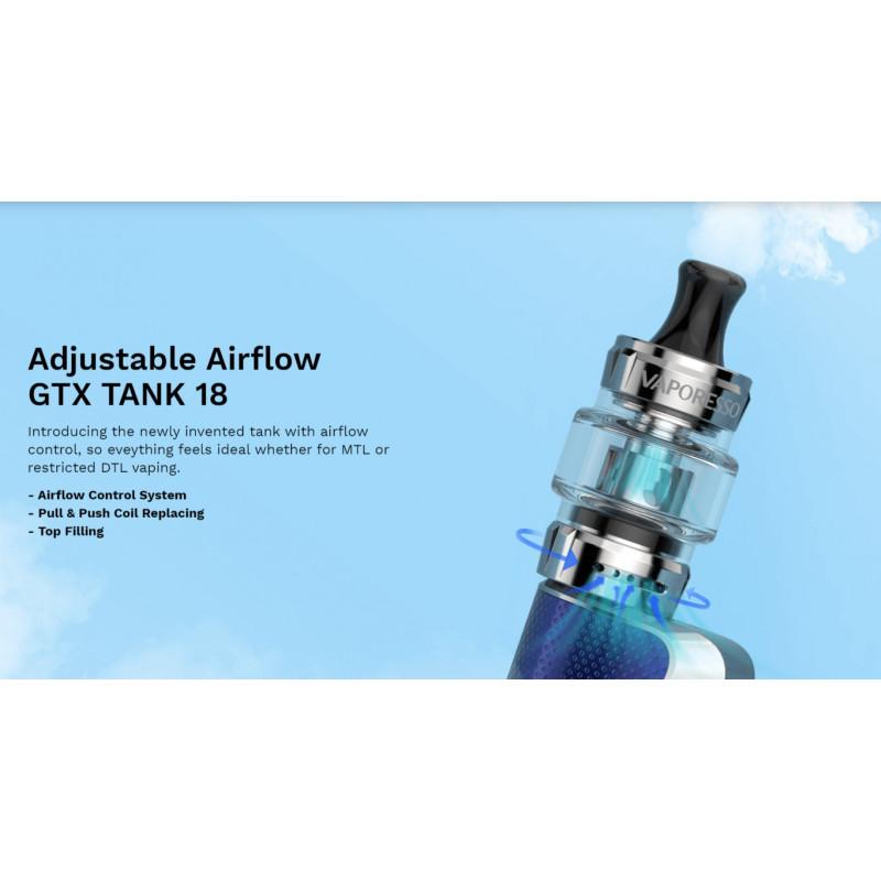 Vaporesso GTX One Kit einstellbarer Airflow